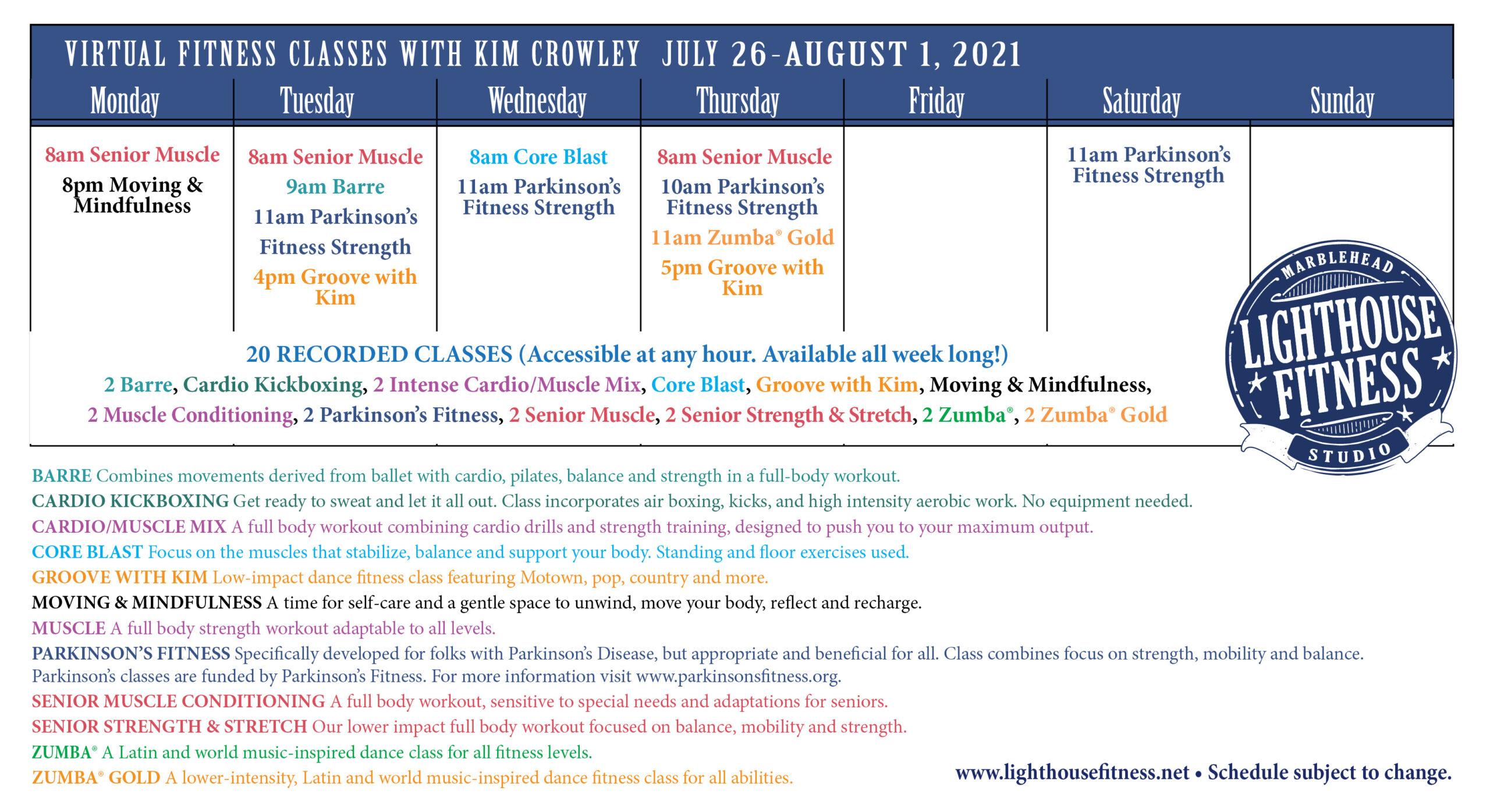 72621 week 2021 virtual class schedule